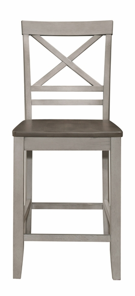 Brightleaf 2 Brown/Light Gray Counter Height Chairs by Homelegance