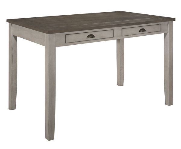 Brightleaf Brown/Light Gray Wood Counter Height Table by Homelegance