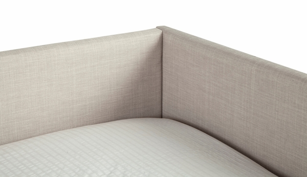 Britney Light Grey Linen Twin Daybed by Alpine Furniture