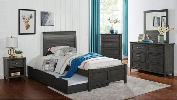Brogan Gray Wood 4-Drawer Chest by Furniture of America