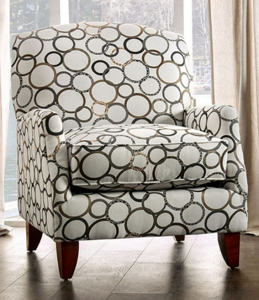 Bromley Circle Multi Microfiber Accent Chair by Furniture of America