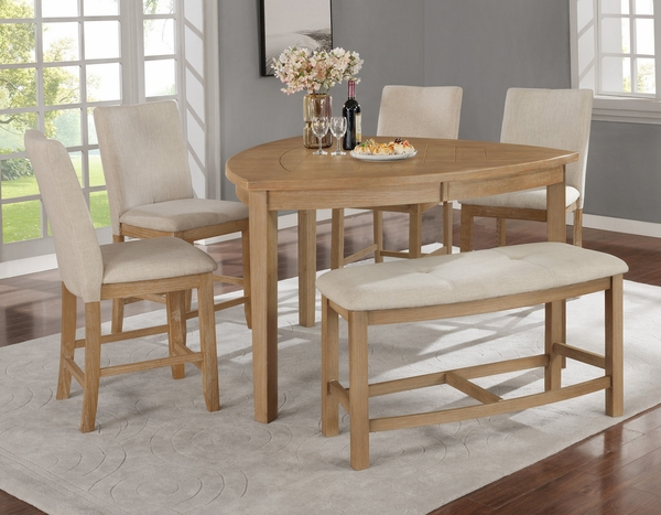 Bushra Rustic Counter Height Table by Best Quality Furniture