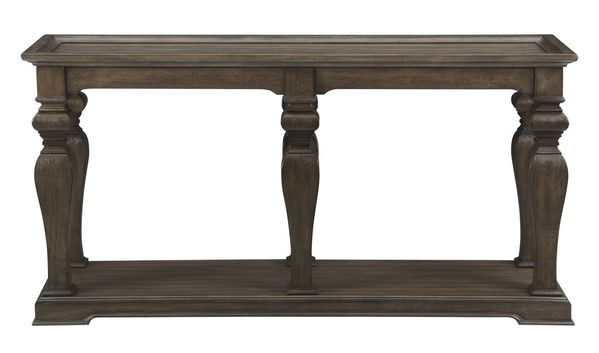 Calera Antique Pecan Wood Sofa Table with Tray Top by Homelegance