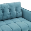 Cameron Sea Blue Performance Velvet Square Tufted Sofa by Modway