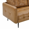 Cameron Tan Vegan Leather Square Tufted Sofa by Modway