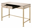 Canine Smoky Mirrored/Champagne Writing Desk with Drawer by Acme