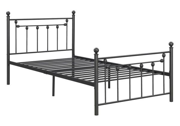 Canon Gunmetal Metal Fully Slatted Twin Bed by Coaster
