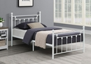 Canon Matte White Metal Fully Slatted Twin Bed by Coaster