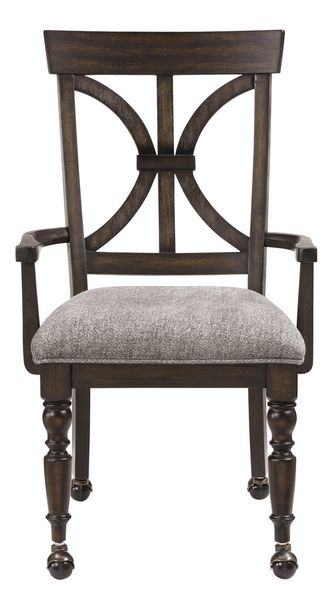 Cardano Driftwood Charcoal/Gray Fabric Office Chair by Homelegance