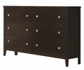 Carlton 5-Pc Cappuccino Wood/Leatherette Full Bedroom Set by Coaster