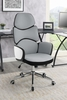 Carmen Light Grey/White High Gloss Adjustable Office Chair by Coaster