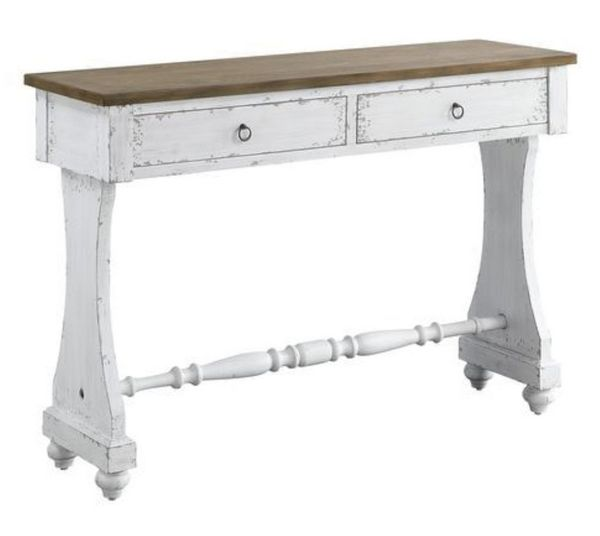 Carminda Antique White Wood Console Table by Acme