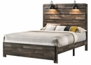 Carter Weathered Grey Wood Full Platform Bed by Crown Mark