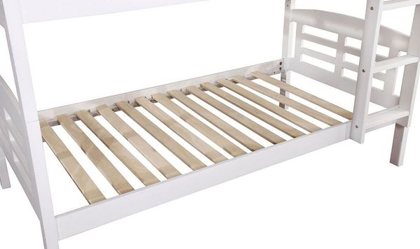 Cassie White Wood Twin Bunk Bed with Trundle by Furniture of America