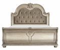 Cavalier Silver Wood Cal King Bed (Oversized) by Homelegance