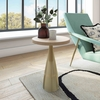 Celeste Ribbed Side Table with Gold Finish Metal Base by TOV Furniture