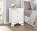 Centralia White Wood 3-Drawer Nightstand by Homelegance