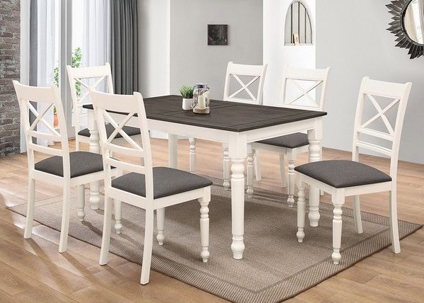 Charlee Ivory/Gray Wood Dining Table by Milton Greens Stars