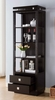 Clotilde Red Cocoa Wood 2-Drawer Bookcase by ID USA