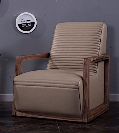 Clover Tan Italian Leather Accent Chair by American Eagle Furniture