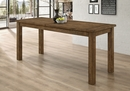 Coleman Rustic Golden Brown Wood Counter Height Table by Coaster