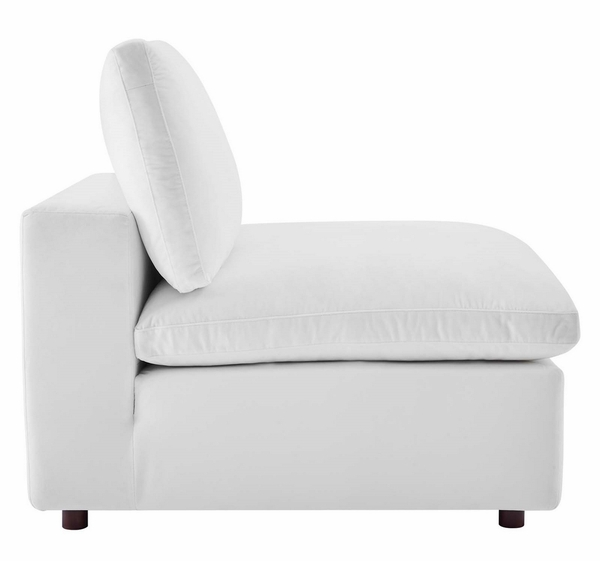 Commix 5-Piece White Performance Velvet Sectional Sofa by Modway