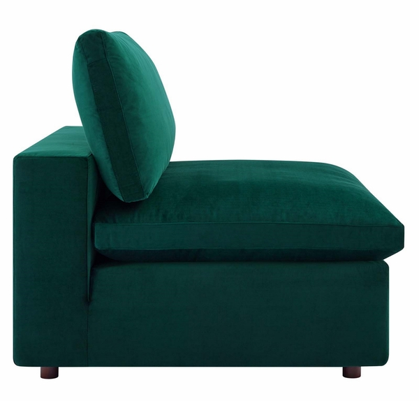 Commix 6-Pc Green Performance Velvet Sectional Sofa by Modway