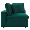 Commix 8-Pc Green Performance Velvet Sectional Sofa by Modway