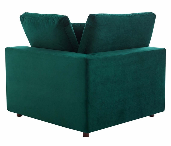 Commix Green Performance Velvet Sectional Sofa with Ottoman by Modway