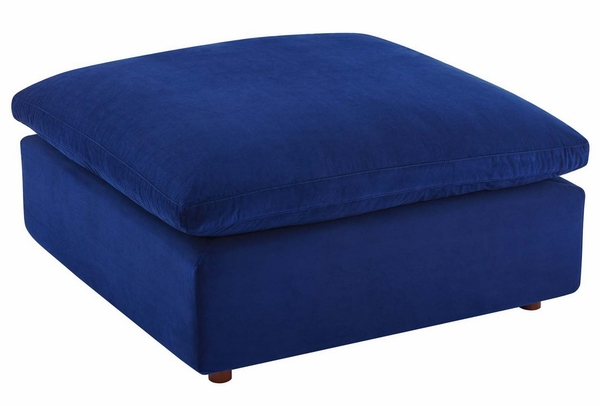 Commix Navy Performance Velvet Sofa with Ottoman by Modway