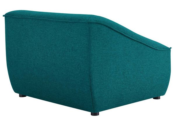 Comprise 2-Pc Teal Soft Fabric Sofa Set by Modway