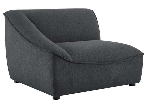 Comprise Charcoal Fabric Sectional Sofa w/ Ottoman by Modway