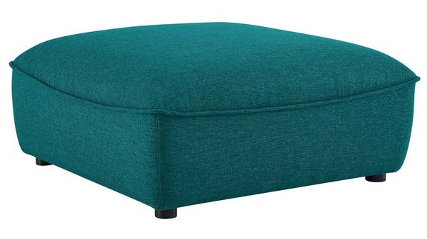 Comprise Teal Fabric Sectional Sofa with Ottoman by Modway