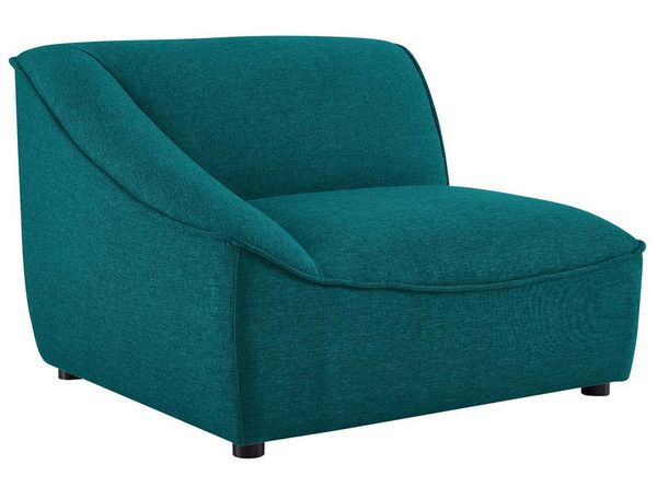 Comprise Teal Soft Fabric Sofa with Ottoman by Modway