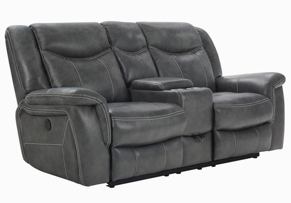 Conrad 3-Pc Breathable Leatherette Power Recliner Sofa Set by Coaster