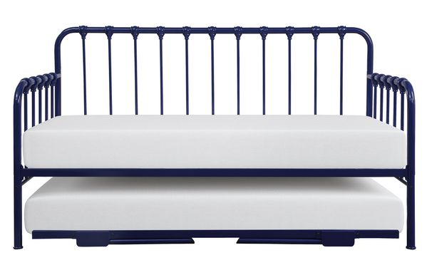Constance Navy Blue Twin Daybed with Lift-Up Trundle by Homelegance