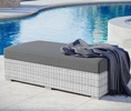 Convene Light Gray/Charcoal Fabric Outdoor Patio Ottoman by Modway