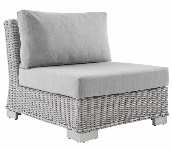 Conway 6-Pc Light Gray/Gray Modular Outdoor Patio Sectional by Modway