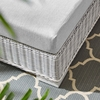 Conway Light Gray Synthetic Rattan/Gray Fabric Patio Ottoman by Modway