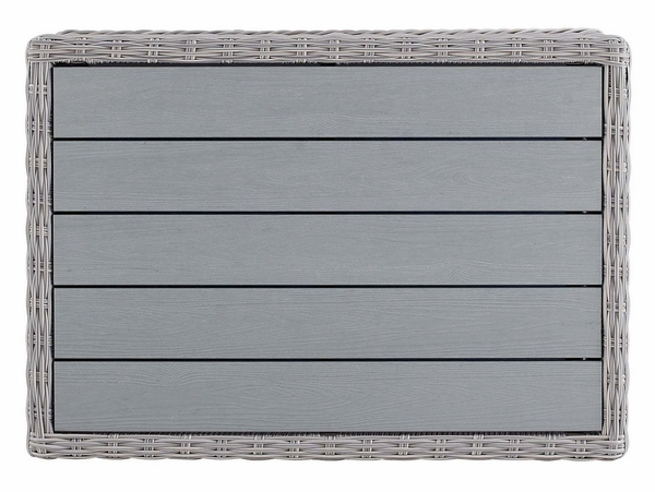 """Conway Light Gray Synthetic Rattan 45"""" Patio Coffee Table by Modway"""