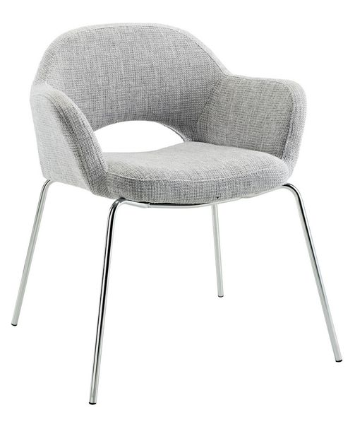 Cordelia Light Gray Fabric/Steel Arm Chair by Modway