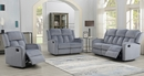 Dale 3-Pc Grey Soft Fabric Manual Recliner Sofa Set by AC Pacific