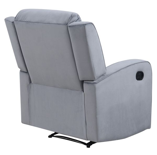 Dale Grey Soft Fabric Manual Recliner by AC Pacific