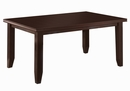 Dalila 6-Pc Cappuccino Wood/Leatherette Dining Table Set by Coaster