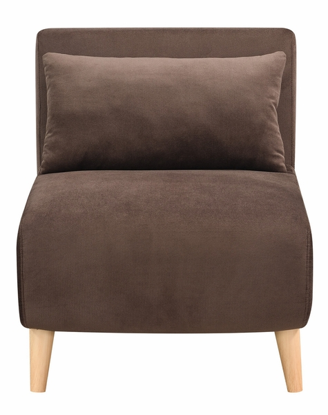 Dane Brown Fabric Convertible Chair by AC Pacific