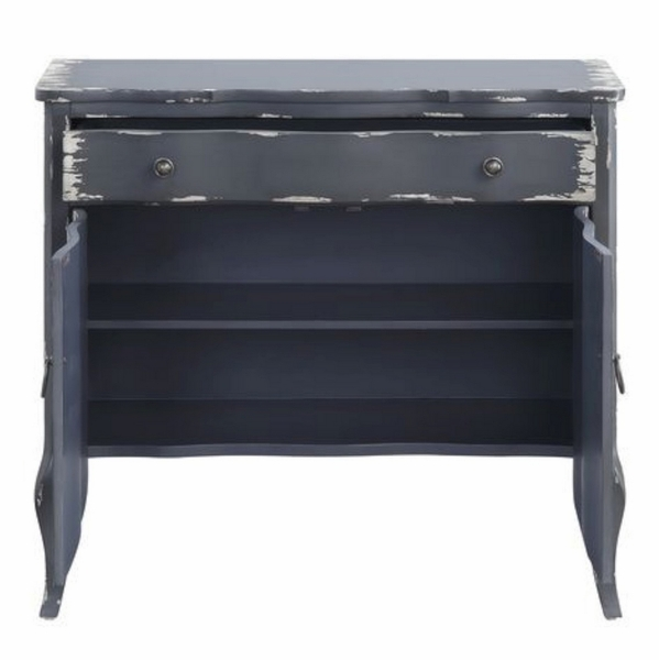 Deianira Antique Gray Wood Console Table by Acme