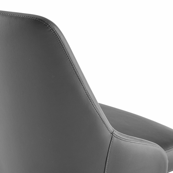 Designate Gray Vegan Leather Office Chair by Modway