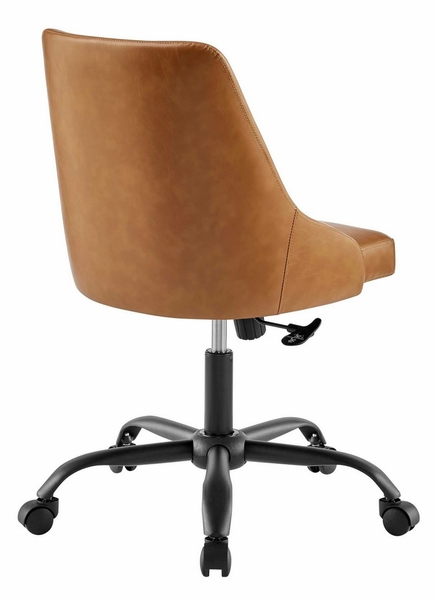 Designate Tan Vegan Leather Office Chair by Modway