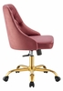 Distinct Dusty Rose Performance Velvet Office Chair by Modway