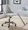 Distinct Light Gray Fabric Button Tufted Office Chair by Modway